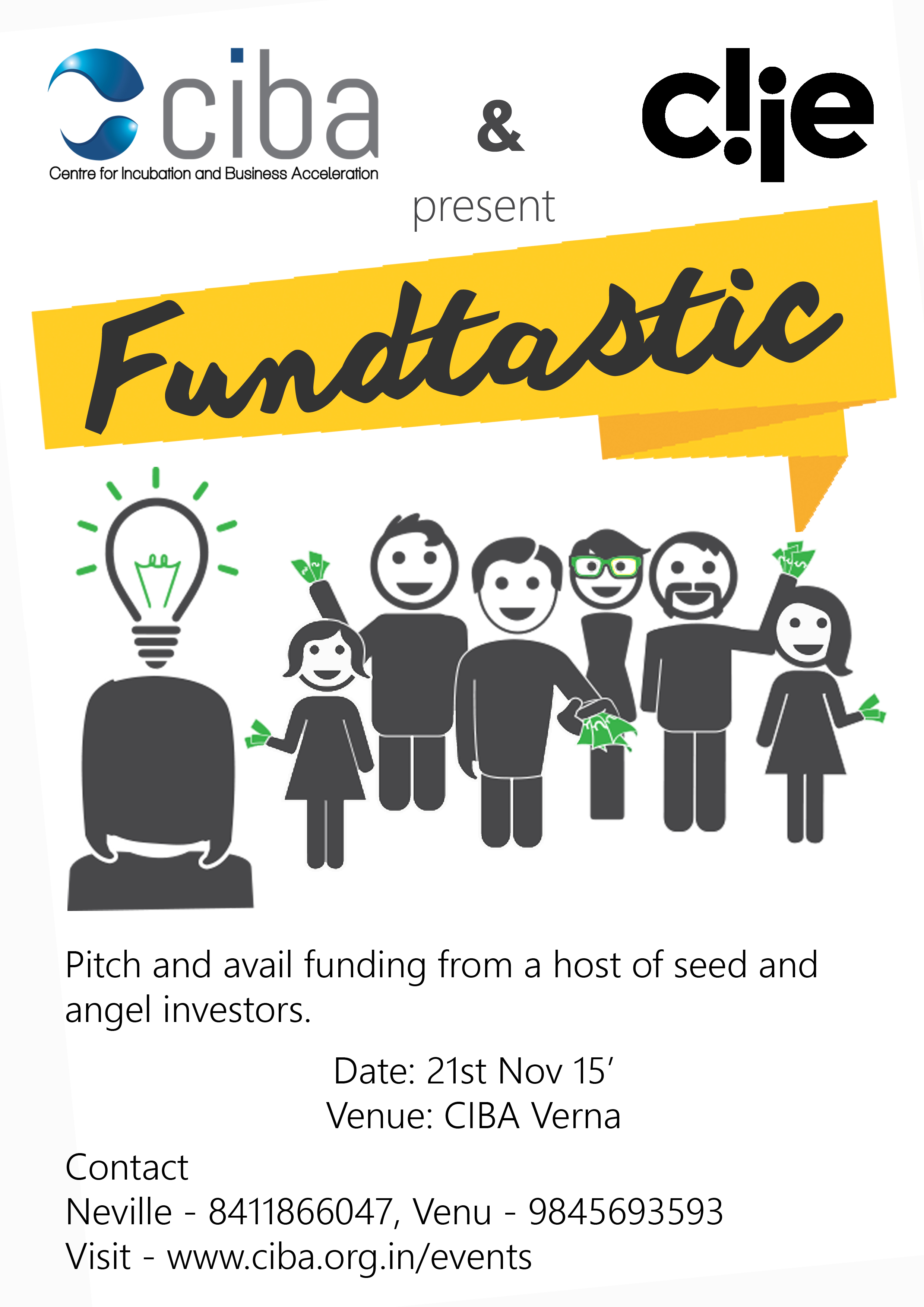 fund your startup by sharing your amazing startup idea at cibas